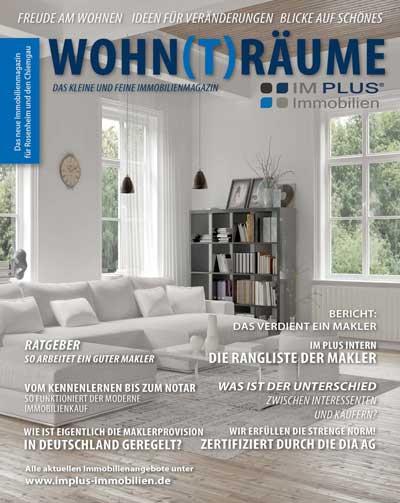 Im Plus Immobilien Magazin Cover - Innenansicht eines Wohnzimmers einer Immobilie