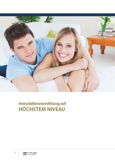 Unternehmensbroschuere der Im Plus Immobilien GmbH