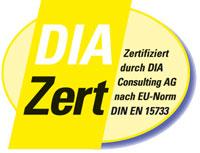 Zertifikat der DIA Consulting AG für Makler